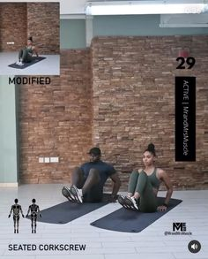 Fitness Workouts, Full Body Hiit Workout, Gym Workout Videos, Gym Workout For Beginners, Fitness Workout For Women, At Home Workouts, Muscle Workouts, Exercices Swiss Ball, Workout Bauch