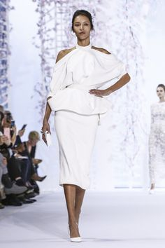 Ralph & Russo Couture Spring Summer 2016 Paris...Another beautiful silhouette. Add bridal embellishments to fit the wedding theme.