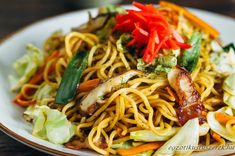 Yakisoba Sülttészta Stir Fry Noodles, Asian Recipes, Ethnic Recipes, Tempura, Korean Food, Japanese Food, Spaghetti, Food And Drink, Dishes