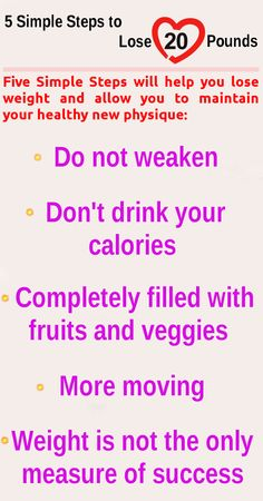 5 Simple Steps to Lose 20 Pounds .. #weightloss #healthy