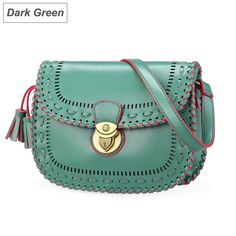 women's vintage hollowed-out woven cross body bag