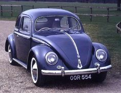 Volkswagen built right-hand-drive Beetles for markets such as Great Britain, as evidenced by this classic 1954 Volkswagen Beetle sedan.
