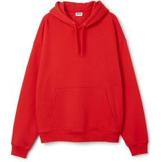 Big Hawk Hoodie (175 BRL) ❤ liked on Polyvore featuring tops, hoodies, sweaters, red hooded sweatshirt, sleeve top, cotton jersey, oversized tops and red hoodies