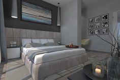 Contemporary bedroom design dark
