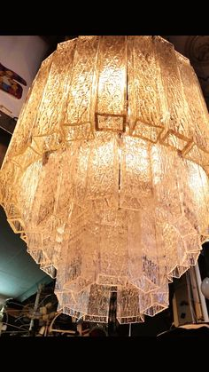 #furniture #lighting #murano #glass #chandelier #1960s
