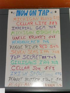 Beer Cellar.  Add a Chalk Board that tells whats on Tap
