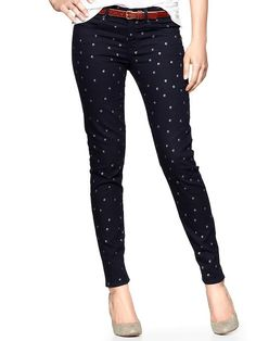 1969 metallic dot legging skimmer jeans Product Image    These are it! Bday present? Yessss