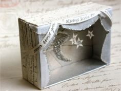 Mini moon and stars theater by Denise Sharp #diorama