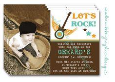 Rocker Baby Birthday Invitation