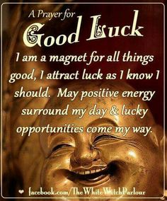 I am a magnet for all things good.I attract luck as I know I should. May positive energy surround my day and lucky opportunities come my way. Chakra Healing, Healing Prayer, Good Luck Spells, Good Luck Symbols, Guter Rat, Mudras, A4 Poster, Magick Spells, Healing Spells