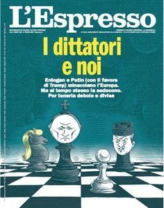 La copertina dell'Espresso in edicola da domenica 2 aprile