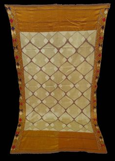 India, Punjab, Phulkari embroidery cloth known as Chand Bagh, silk floss embroidery