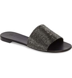 366d1d299c65d Giuseppe Zanotti Crystal Embellished Slide Sandal (Women)