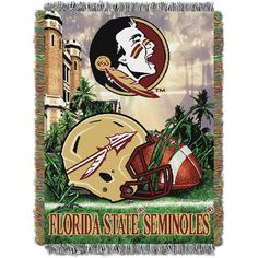 Florida State Seminoles NCAA Woven Tapestry Throw (Home Field Advantage) (48x60)