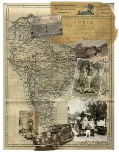 ::use a map as a base for photos of travel or of family tree as people moved from place to place...