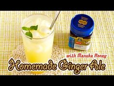 Homemade Ginger Ale with Manuka Honey from New Zealand 自家製ジンジャエール - OCHIKERON - CREATE EAT HAPPY - YouTube