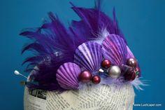 Purple Mermaid Tiara Crown  Adella in Royal Purple:  by LushLapel