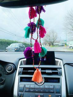 Fiesta Tassel Car Necklace - Car World Toyota Tundra, Peterbilt, Polo Lacoste, Car Accessories For Guys, Girly Car, Redneck Girl, Car Interior Decor, Cute Cars, Diy For Girls