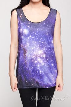 Hey, I found this really awesome Etsy listing at http://www.etsy.com/listing/152788146/galaxy-tank-top-cosmic-light-blue-violet