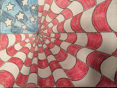 Happy 4th of July art project.