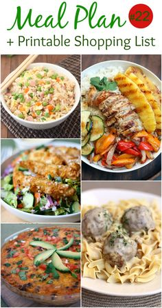An EASY (family-friendly) meal plan that includes Chicken Taco Pie, Ham Fried Rice, Swedish Meatballs, Grilled Hawaiian Chicken Teriyaki Bowls, Applebee's Oriental Chicken Salad. Free printable shopping list is included! The hardest part of creating a meal plan is finding the ideas, and creating a shopping list, so I've done that for you! Click the...Read More »