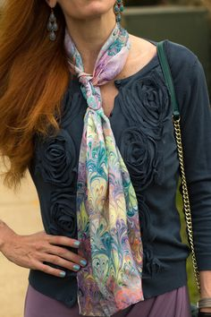 Turning Heads Linkup-Oufit Inspiration-Handpainted Scarf