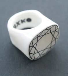 porcelain engagement ring Mixko