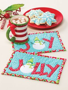 Christmas All Through the House items for the table to quilt