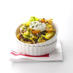 Southwest Frito Pie Recipe from Taste of Home -- shared by Janet Scoggins of North Augusta, South Carolina