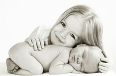innocent girl and baby