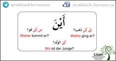 """""""Wo?""""  arabisch-deutsch"""