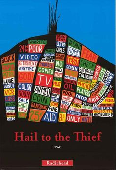 """An awesome poster of the album cover from Radiohead's Hail to the Thief - one of their best! A fully licensed w.a.s.t.e. product - 2003. Ships fast. 24x36 inches. Don't be an """"Amnesiac"""" and forget to"""
