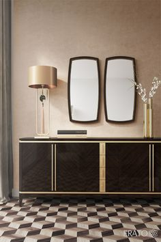 FRATO | Siena Sideboard Sideboards are a desirable and fashionable accessory that can offer great storage to a dining room, and can also be great center pieces! ©Frato Interiors #diningroom #livingroom #InteriorDesign #sideboard #furniture #design #trend #home
