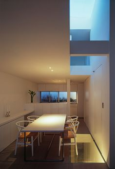 OBI-House is a minimalist house located in Tokyo, Japan, designed by Tetsushi Tominaga. The three-story home is constructed of reinforced co...