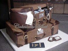 Vintage Stacked Luggage Cake Tutorial