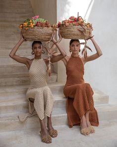 Karen Cotton-Blend Pointelle-Knit Midi Dress by Cult Gaia Image Fashion, Look Fashion, Winter Fashion, Knit Fashion, Korean Fashion, Girl Fashion, Mode Outfits, Fashion Outfits, Womens Fashion