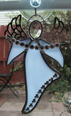 Message Angel Custom Made To Order by SerendipityGlassWrks on Etsy
