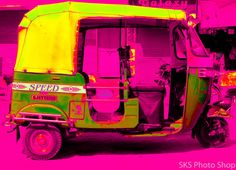 Taken in Baroda, India..  Indian rickshaw popart photo print  Free shipping by soneshk, $25.00