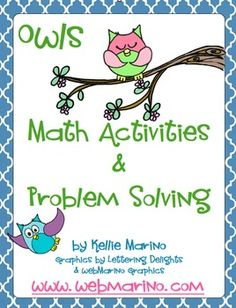 This is a Owls themed set of Numerical Fluency and Daily Problem Solving resources that I will be using for guided math groups, daily math journals...