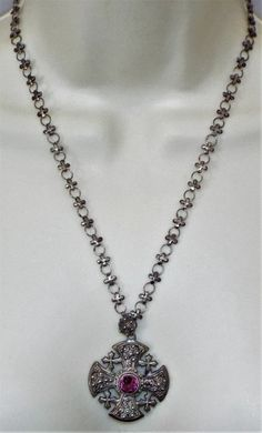 18-Inch Hamilton Gold Plated Necklace with 4mm Light Amethyst Birthstone Beads and Gold Filled Maltese Cross Charm.