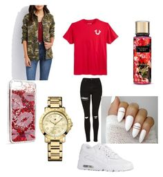 """""""Untitled #316"""" by slayxalanda ❤ liked on Polyvore featuring Charlotte Russe, True Religion, NIKE, Tommy Hilfiger and Victoria's Secret"""