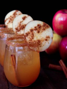 Spiced Apple Cider Margaritas