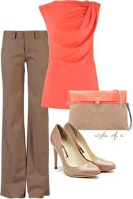 Chic Outfits | Orange and Purple | Fashionista Trends