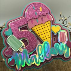 Birthday Favors, Birthday Cake Toppers, Cupcake Toppers, Balloon Decorations Party, Birthday Decorations, Cream Cake, Ice Cream, Resin Crafts, Paper Crafts