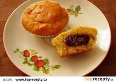 Banánové muffiny s čokoládou recept - TopRecepty.cz Cornbread, Cupcakes, Cooking, Breakfast, Ethnic Recipes, Food, Millet Bread, Kitchen, Morning Coffee