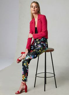 Wear our Joseph Ribkoff cropped pants as you transition your wardrobe into the next season. Pair them with a solid colour... Free Shipping $150+