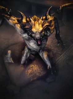 Gargoyles of Skyrim! they are the scariest thing in the game to me.. atleast when I first encountered them xD heart attack!