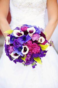 Calla and Purple Bridal Bouquet - www.stems4weddings.com  - Stems Florist - St. Louis, MO