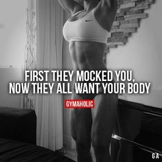 Daily fitness motivation in order to achieve your goals in the gym. Whether you want to build muscle or lose fat, we will help you. Body Motivation, Fitness Motivation Quotes, Weight Loss Motivation, Workout Motivation, Fitness Quotes Women, Sport Fitness, Fitness Goals, Fitness Tips, Body Fitness
