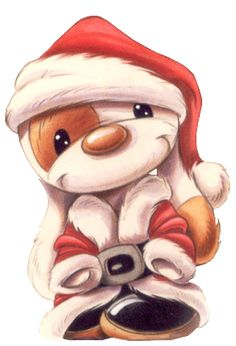 CHRISTMAS SANTA PUPPY CLIP ART